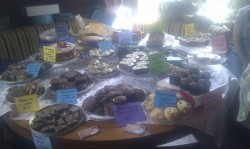 Cake table at the WI fete July 2011