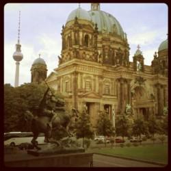 Berliner Dom with Alexanderplatz tower