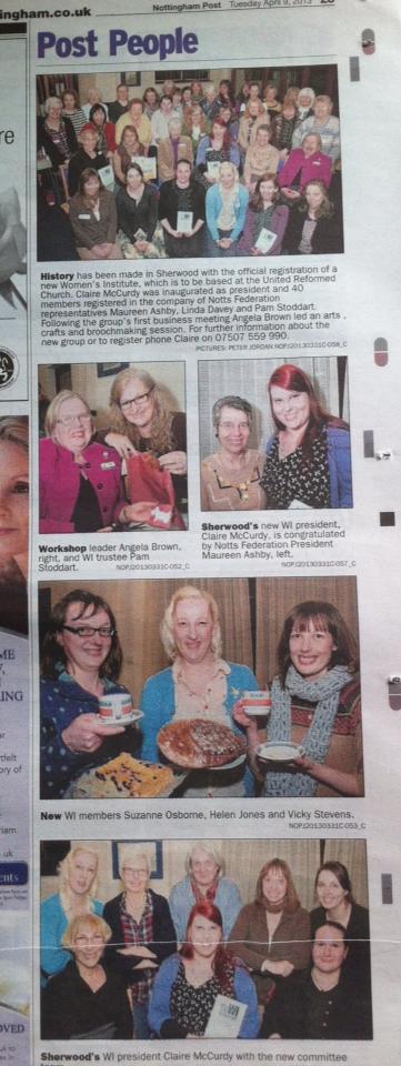 Sherwood WI celebrations in the Nottingham Post