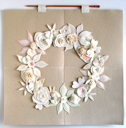 Felt Flower Wreath by The Purl Bee